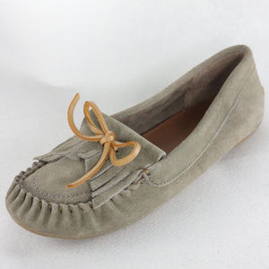 Like New LUCKY BRAND Anchor Gray Suede Moccasins